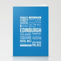 edinburgh Stationery Cards featuring Edinburgh by Just Being Creative