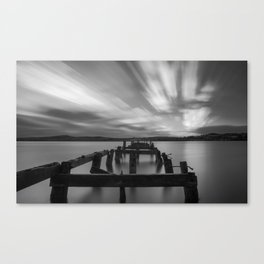 Long exposure of Lough Swilly and Fahan Pier Canvas Print