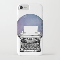 typewriter iPhone & iPod Cases featuring Typewriter by Rebecca Joy - Joy Art and Design