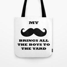 My Mustache - white Tote Bag