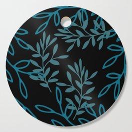 Leafy Teal Cutting Board