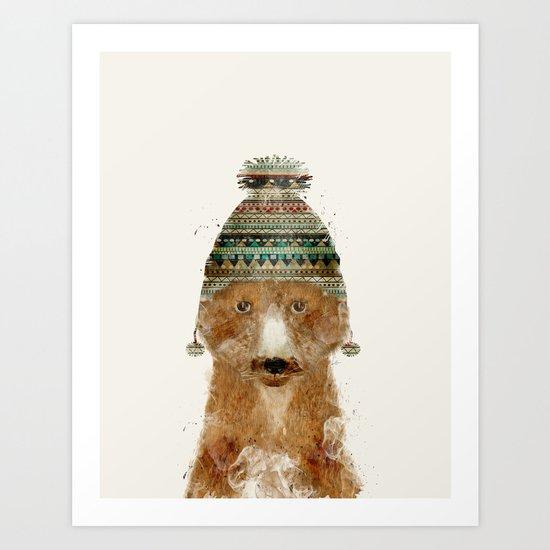little winter fox Art Print
