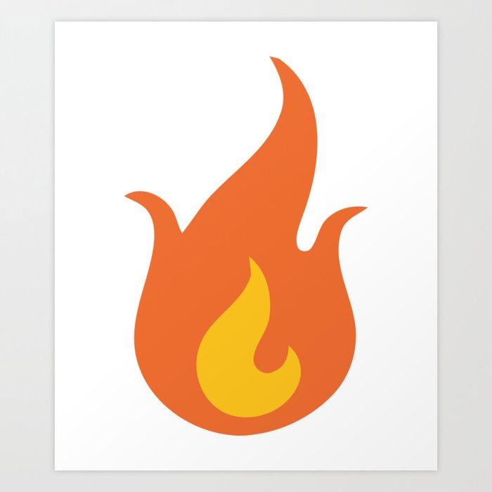 Fire Emoji Art Print by azza1070