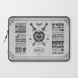 Legend of Zelda Hylian Shield Foundry logo Iconic Geek Line Artly Laptop Sleeve