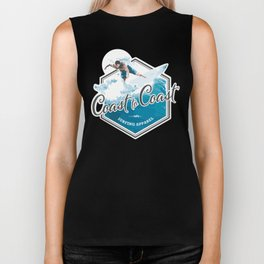 Surfing Coast to Coast Biker Tank