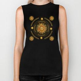 """Black & Gold Vault Mandala"" Biker Tank"