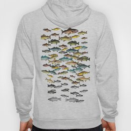 Fish Beach Nautical multicolor and black and white Hoody