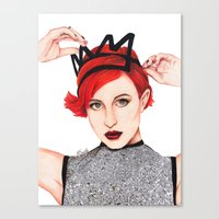 hayley williams Canvas Prints featuring Hayley Williams  by Emily Smith (Emzstuff)