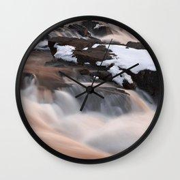 Ruby Winter Falls Wall Clock