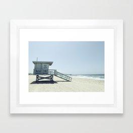 Hermosa Beach Lifeguard Tower 19 Framed Art Print