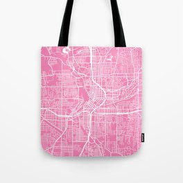 Atlanta map pink Tote Bag