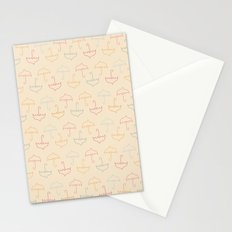 UMBRELLA - PEACH Stationery Cards