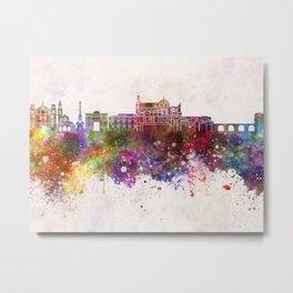 Cordoba skyline in watercolor background Metal Print