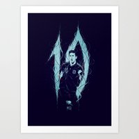 messi Art Prints featuring Messi by Andres Moncayo