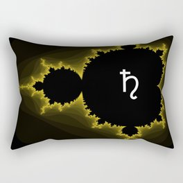 Black Borealis Rectangular Pillow