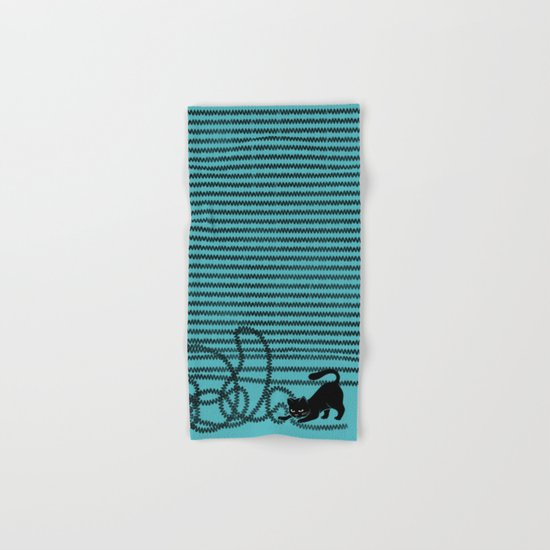Unravel (in Blue) Hand & Bath Towel