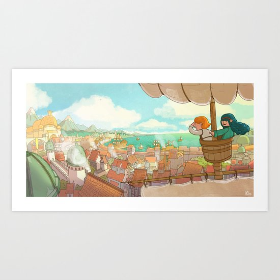 The Little Scribe: The City! Art Print