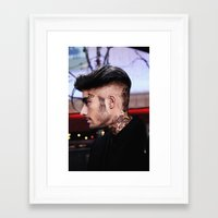 zayn malik Framed Art Prints featuring Zayn Malik by Becca / But-Like-How
