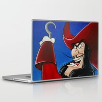 captain hook Laptop & iPad Skins featuring Hook by Laura-A