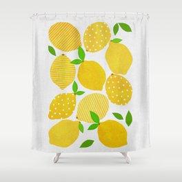 Lemon Crowd Shower Curtain