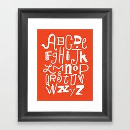 Abecedario Framed Art Print