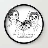 the perks of being a wallflower Wall Clocks featuring The Perks of Being a Wallflower by ☿ cactei ☿