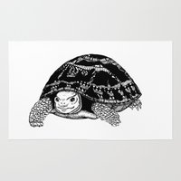 tortoise Area & Throw Rugs featuring Tortoise by Emma Barker