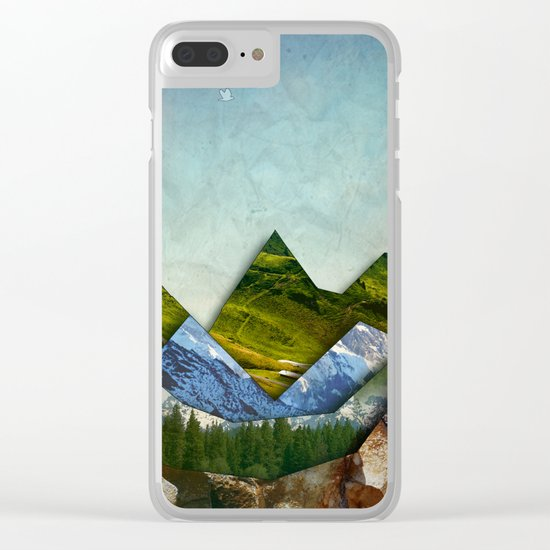 The Mountain Range Clear iPhone Case