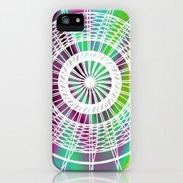 Psychedelic Geometric Mandala iPhone Case