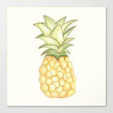 Summer Pineapple Canvas Print