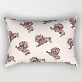 Dog Pattern 2 on Girly Pink Rectangular Pillow