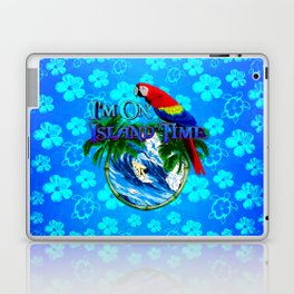 Blue Flowers Island Time Surf Laptop & iPad Skin