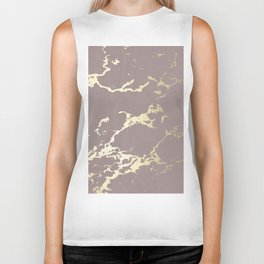 Kintsugi Ceramic Gold on Red Earth Biker Tank