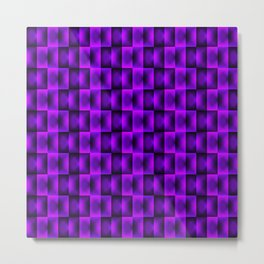 Fashionable large plaids from small violet intersecting squares in a chess cage. Metal Print