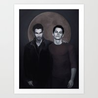 sterek Art Prints featuring Sterek by Armellin