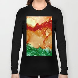 Sun Splash Abstract Painting Long Sleeve T-shirt
