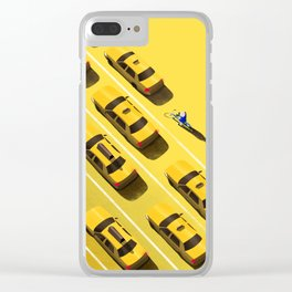 New York Cabs Clear iPhone Case