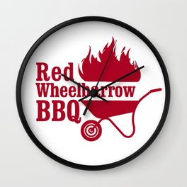 Mr. Robot - Red Wheelbarrow Wall Clock