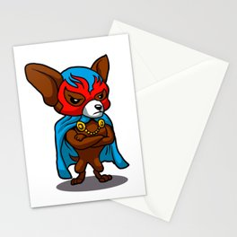 Cute dog chihuahua Fighter Lucha Libre Stationery Cards