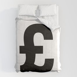 Pound Sign (Black & White) Comforters