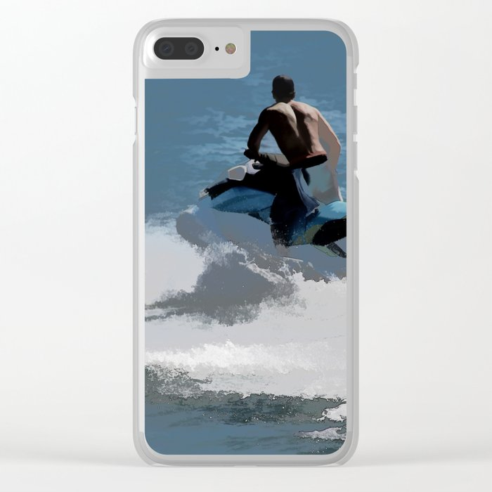 Making Waves - Jet Skier Clear iPhone Case