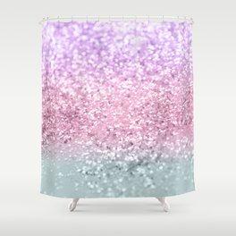 Unicorn Girls Glitter #7a #shiny #pastel #decor #art #society6 Shower Curtain
