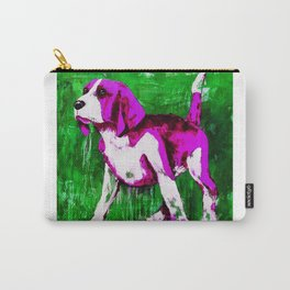 Purple Puppy Carry-All Pouch