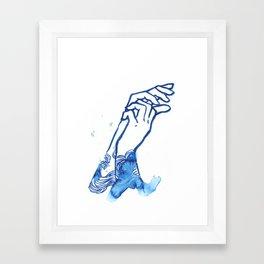waves hands I Framed Art Print