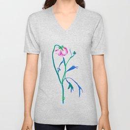 One Flower - Study 3. Back Unisex V-Neck