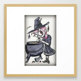 The Kitchen Witch Framed Art Print