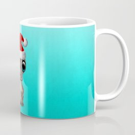 Christmas Platypus Wearing a Santa Hat Coffee Mug