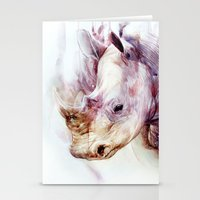rhino Stationery Cards featuring RHINO by beart24