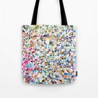 confetti Tote Bags featuring Confetti by FRAXTURED