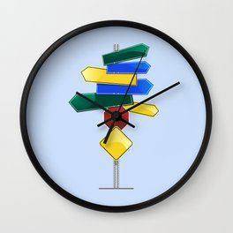 Direction Sign Wall Clock